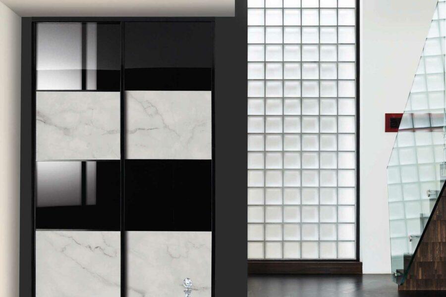 facades coulissantes noires