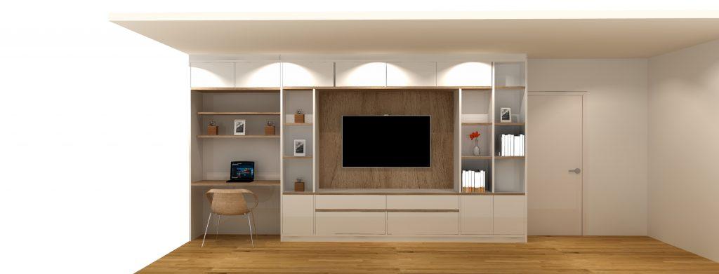 meuble TV bureau